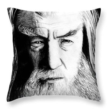 Wise Wizard Throw Pillow by Kayleigh Semeniuk