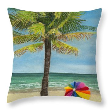 Wish I Was There Throw Pillow by Arlene Crafton