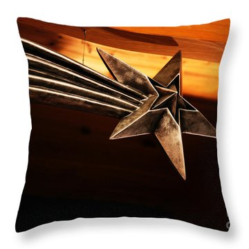 Wish Upon A Shooting Star Throw Pillow by Linda Shafer