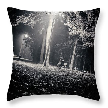 Throw Pillow featuring the photograph Wish You Were Alone by Stwayne Keubrick