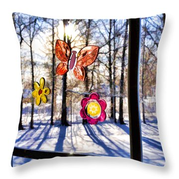 Throw Pillow featuring the photograph Wishing For Spring 1 by Mark Madere
