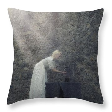 Wishing Well Throw Pillow by Joana Kruse