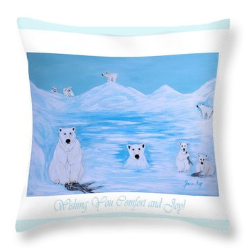Wishing You Comfort And Joy Throw Pillow