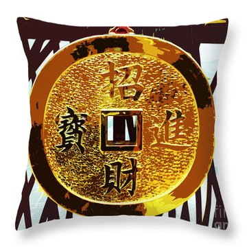 Wishing You Wealth Throw Pillow