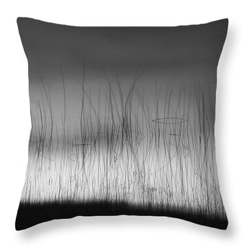 Wispy Reeds Throw Pillow