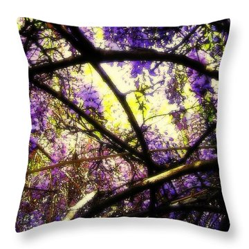 Wisteria Branches Throw Pillow