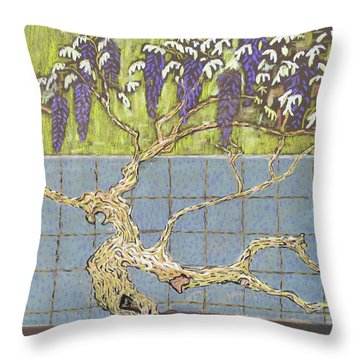 Wisteria Throw Pillow by Don Perino