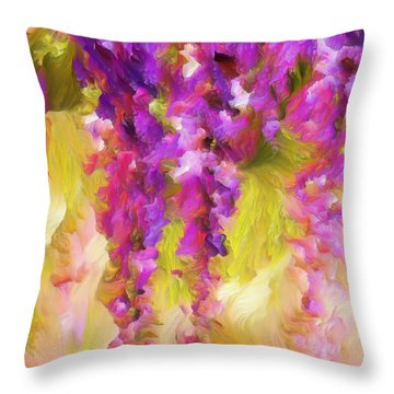 Wisteria Dreams Throw Pillow