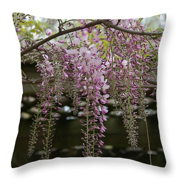Wisteria Fall Throw Pillow