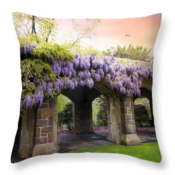 Wisteria In May Throw Pillow