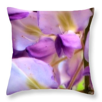 Wisteria Kisses Throw Pillow
