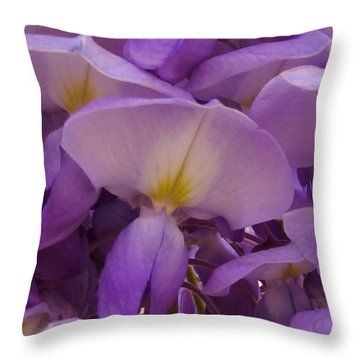 Wisteria Parasol Throw Pillow