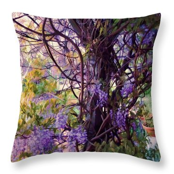 Wisteria Shade And Sun Throw Pillow