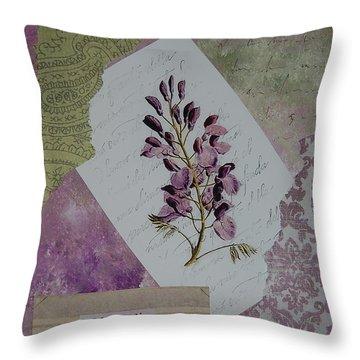 Wisteria Throw Pillow by Tamyra Crossley