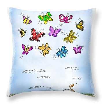 Wistful  Throw Pillow