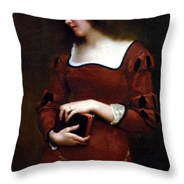 Wistful Thoughts Throw Pillow by Gustave Jean Jacquet