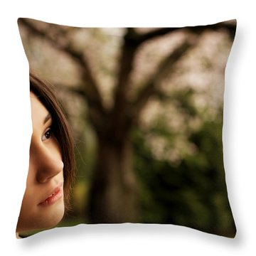 Wistfully Dreaming Of You Throw Pillow by Lisa Knechtel