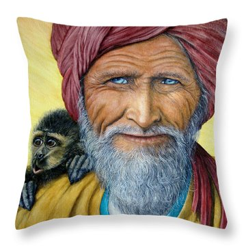 Wit And Wisdom Throw Pillow by Joey Nash