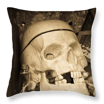 Witches Bookshelf Throw Pillow by Edward Fielding