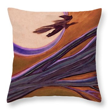 Witches' Branch Purple Throw Pillow by First Star Art
