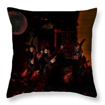 Witchey Ways Throw Pillow