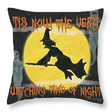 Witching Time Throw Pillow