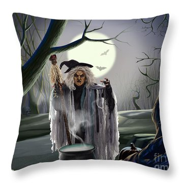 Witch's Potion Throw Pillow