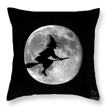 Witchy Moon Throw Pillow by Al Powell Photography USA