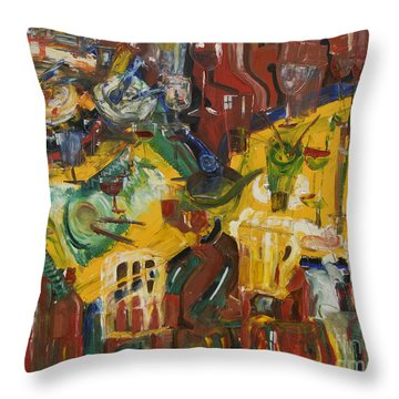 With Coffee To Follow Throw Pillow