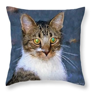 With Eyes On Throw Pillow