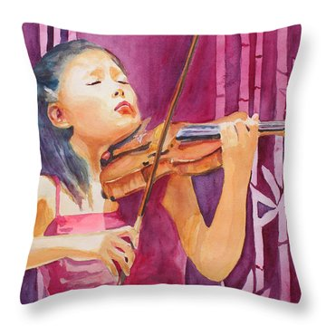 With Feeling Throw Pillow by Jenny Armitage
