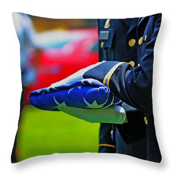 With Honor Throw Pillow