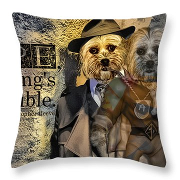 With Hope Anything Is Possible 1 Throw Pillow