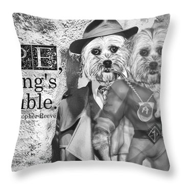 With Hope Anything Is Possible 2 Throw Pillow