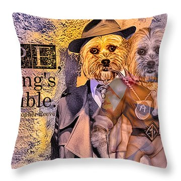 Throw Pillow featuring the digital art With Hope Anything Is Possible 3 by Kathy Tarochione