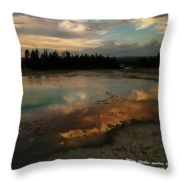 With Little More Throw Pillow by Jeff Swan