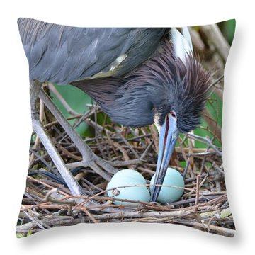 With Tender Care Throw Pillow