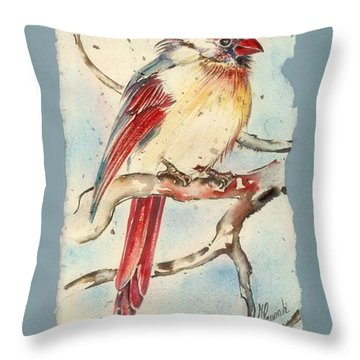 With Touches Of Red  Throw Pillow