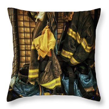 Throw Pillow featuring the photograph Within A Brotherhood You Never Walk Alone by Debra Fedchin