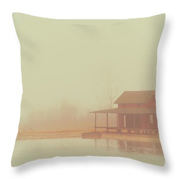Within The Fog Throw Pillow by Karol Livote