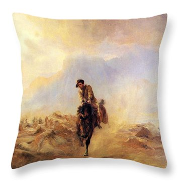 Within The Sounds Of The Guns Throw Pillow by Elizabeth Thompson
