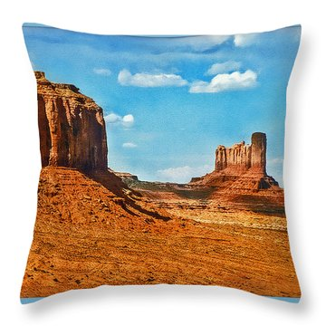 Throw Pillow featuring the photograph Witnesses Of Time by Hanny Heim