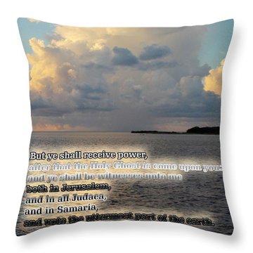 Witnesses Unto Me Throw Pillow
