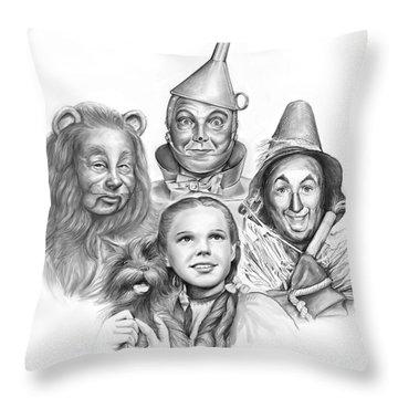 Wizard Of Oz Throw Pillow by Greg Joens