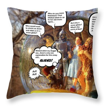 Wizard Of Oz Humor IIi Throw Pillow