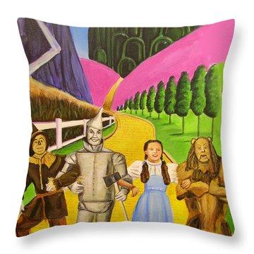 Wizard Of Oz Illustration Throw Pillow by Melinda Saminski