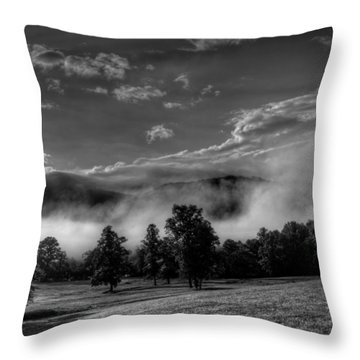 Throw Pillows Uncovered : Wnc Morning In Black And White Photograph by Greg Mimbs