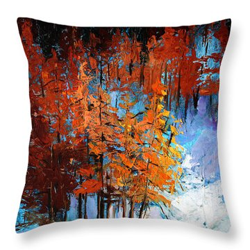 Wolf Country Throw Pillow by Nancy Merkle
