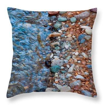 Wolf Creek Downstream Throw Pillow by Omaste Witkowski