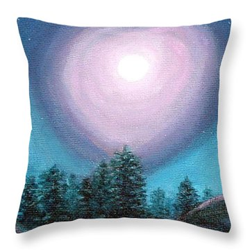 Wolf Heart Song Throw Pillow